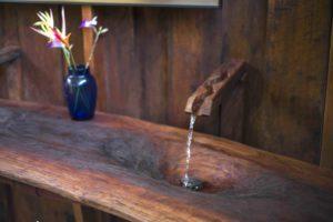 Marina bathroom sink running water copy
